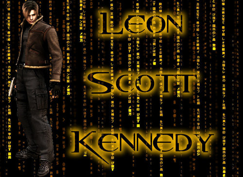 Leon Kennedy wallpaper possibly containing a sign entitled Leon Scott Kennedy