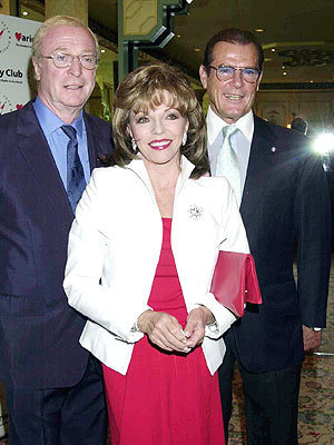 Michael, Joan Collins and Roger Moore