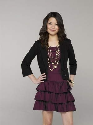 Miranda Cosgrove wallpaper probably containing a cocktail dress, a gathered skirt, and a skirt titled Miranda