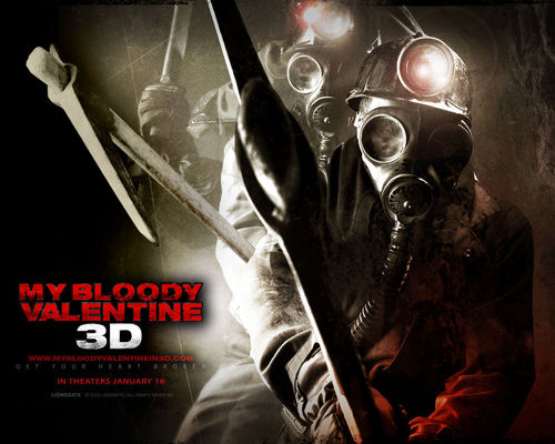 My Bloody Valentine 3D वॉलपेपर possibly with a gasmask titled My Bloody Valentine 3-D