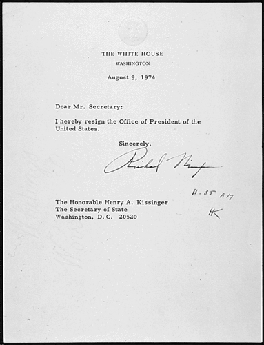 Nixon's Letter of Resignation - richard-nixon Fan Art