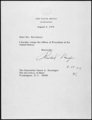 Nixon's Letter of Resignation