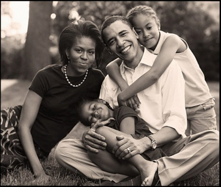 Obama Family( a few years ago)