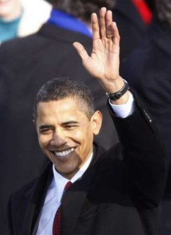 Obama after his Inaugural Address