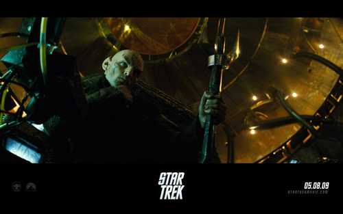 Star Trek (2009) wallpaper probably containing a television receiver and a sign titled Star Trek