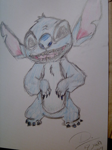Stitch colored sketch