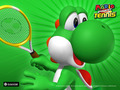 yoshi - Yoshi playing tennis wallpaper