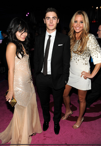 Vanessa, Zac & Amanda Bynes at InStyle & Warner Bros Golden Globe After-Party