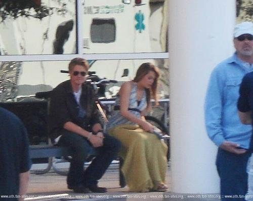 on set (Chad & Bethany)