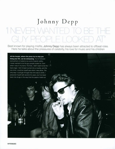 2009 January Magazine - UK Psychologies - johnny-depp Photo