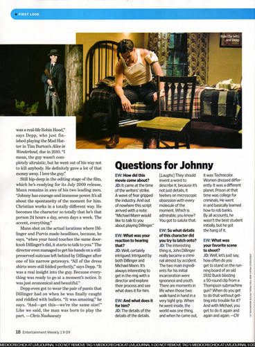 2009 January Magazine - US Entertainment Weekly - johnny-depp Photo