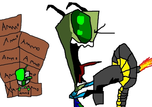 Invader Zim wallpaper possibly with anime titled Ammo Crazy