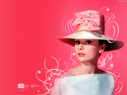 Audrey Hepburn wallpaper probably with a boater and a fedora called Audrey Hepburn