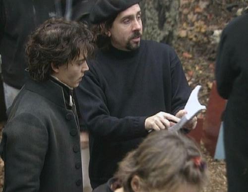 Behind the scenes, johnny depp