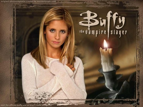 Buffy The Vampire Slayer kertas dinding containing a candle called Buffy