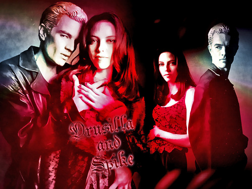 Buffy the Vampire Slayer wallpaper possibly containing a portrait titled Dru and Spike