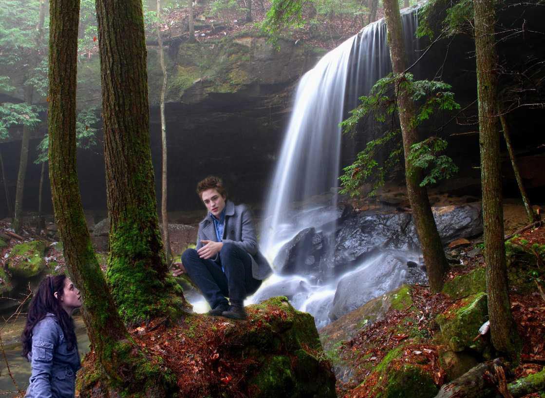 Edward and Bella waterfall