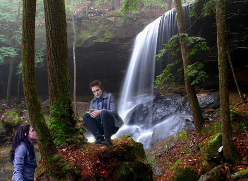 Edward and Bella waterfall