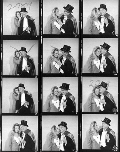 Elizabeth Montgomery & Maurice Evans Proof Sheet