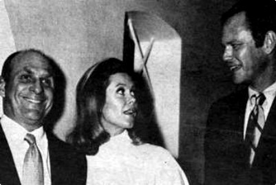 Elizabeth With Husband William Asher And Dick Sargent
