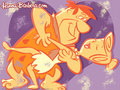 the-flintstones - Fred and Wilma Wallpaper wallpaper