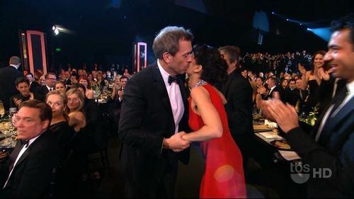 Hugh kisses Lisa