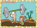 Pebbles and Bamm-Bamm Wallpaper - the-flintstones wallpaper