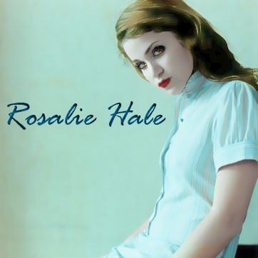 Twilight Series wallpaper with a portrait titled Rosalie (photoshop)