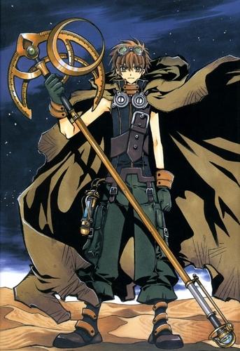 Tsubasa: Reservoir Chronicles karatasi la kupamba ukuta possibly with anime entitled Syaoran