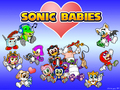 sonic and friends as babbys - sonic-and-amy photo