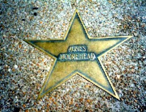 Agnes Moorehead's Walk Of Fame étoile, star