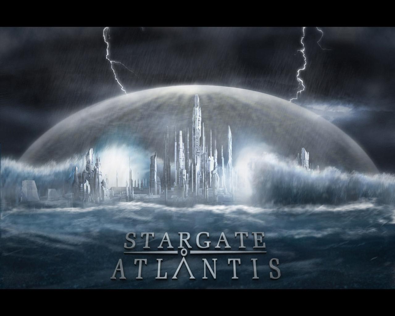 Atlantis in a storm - Stargate: Atlantis 1280x1024