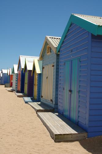 Brighton 바닷가, 비치 Bathing Boxes