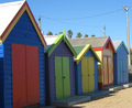 Brighton strand Bathing Boxes