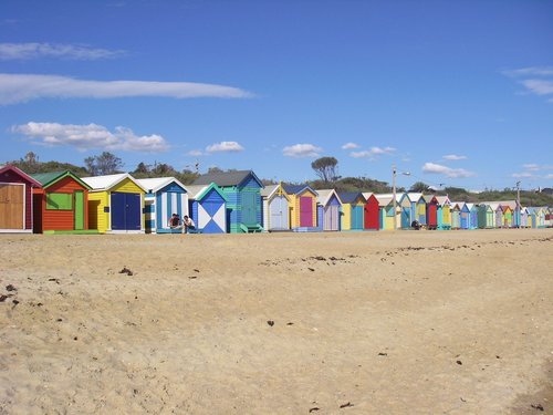 Australia wallpaper probably with a spiaggia house titled Brighton spiaggia Bathing Boxes