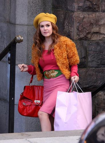 Confessions of A Shopaholic - On Set