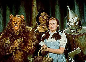Dorothy,Scarecrow,Tin Man and the cowardly Lion