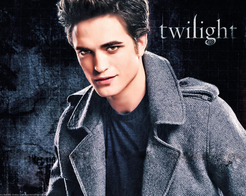 Twilight Series wallpaper probably with an outerwear, an overgarment, and a box coat titled Edward Cullen