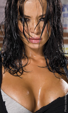Candice Michelle پیپر وال probably containing skin titled Flex Magazine - Candice Michelle