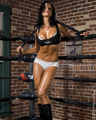 Candice Michelle achtergrond probably with a bikini titled Flex Magazine - Candice Michelle