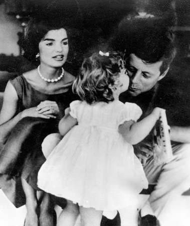 John and Jackie with Caroline