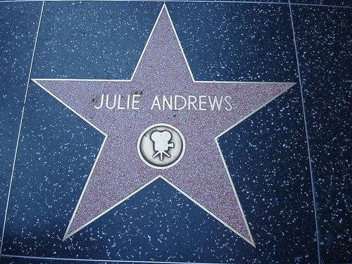 Julie Andrews Walk of fame bituin