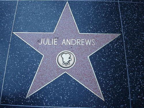 Julie Andrews Walk of fame तारा, स्टार