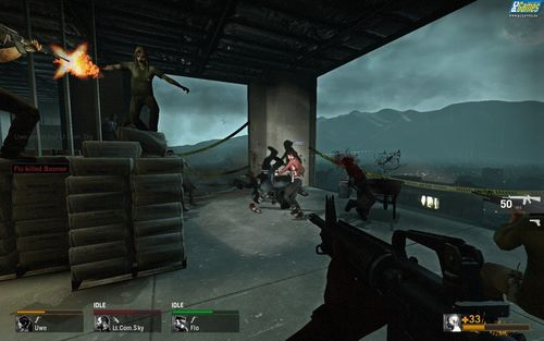 Left 4 Dead fondo de pantalla probably with an internal combustion engine, an antiaircraft, and a warehouse entitled Left 4 Dead