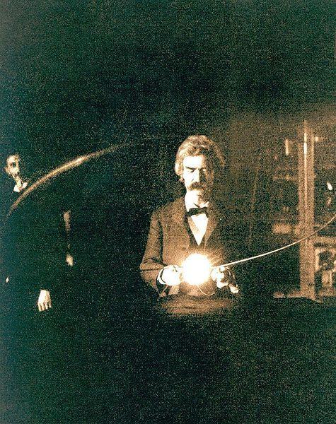Mark Twain in Tesla's Lab