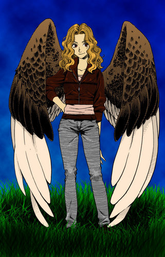 Maximum Ride 壁纸 possibly with a surcoat, 外套 and a 战袍, tabard titled Max