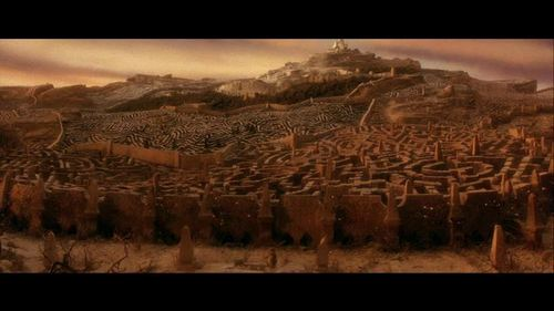 Labyrinth Hintergrund with a sunset entitled Movie Screencaps