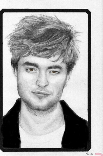 Robert Pattinson hình nền probably containing a sign and a portrait titled R.P