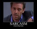 Sarcasm Motivational Poster - house-md fan art