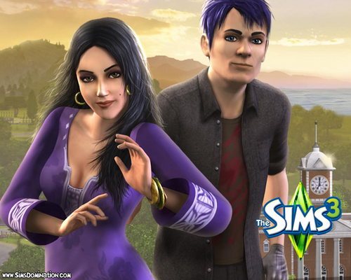 The Sims 3 wallpaper with sunglasses titled Sims 3